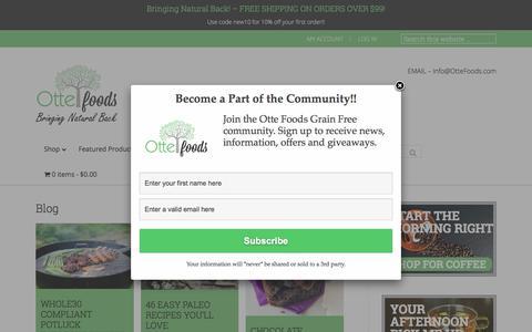 Screenshot of Blog ottefoods.com - Blog - Otte Foods - captured July 10, 2018