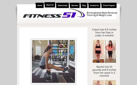 Screenshot of About Page fitness51.com - Best Personal Training, Birmingham, AL - captured Aug. 14, 2018