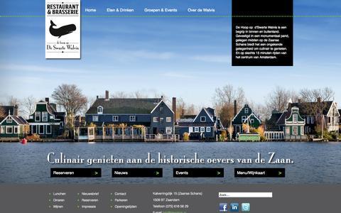Screenshot of Home Page dewalvis.nl captured Oct. 5, 2014