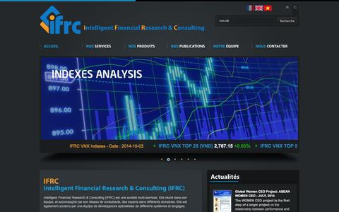 Screenshot of Home Page ifrc.fr - IFRC (Intelligent Financial Research & Consulting) - captured Oct. 6, 2014