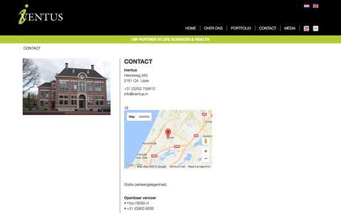 Screenshot of Contact Page iventus.nl - CONTACT - Iventus - captured Aug. 6, 2016