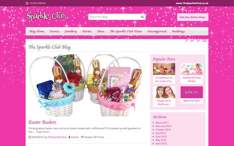 Screenshot of Blog thesparkleclub.co.uk - The Sparkle Club Blog - Home of girls party shoes and more - captured Nov. 20, 2017