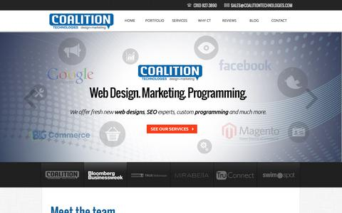 Screenshot of Home Page Locations Page coalitiontechnologies.com - Los Angeles SEO & Web Design » BigCommerce & Magento & more - captured Sept. 23, 2014