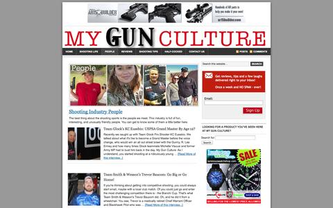 Screenshot of Team Page mygunculture.com - Shooting Industry People Interviews - captured Oct. 26, 2014