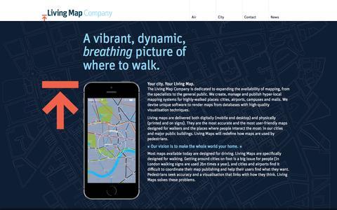 Screenshot of Home Page livingmap.com - Living Map Company - captured Sept. 16, 2014