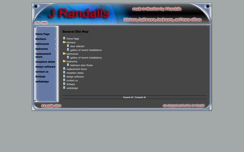 Screenshot of Site Map Page randalls.org.uk - General Site Map - captured Oct. 3, 2014