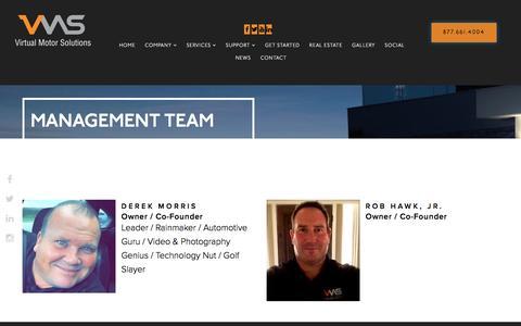 Screenshot of Team Page callvms.com - Management Team - Automotive Vehicle Merchandising Utilizing Video and Photography - captured Nov. 30, 2016