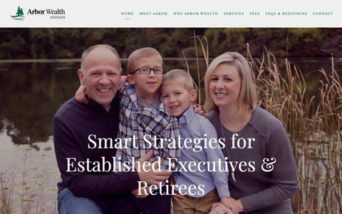Screenshot of Home Page arbor-wealth.com - Troy, Michigan |  — Arbor Wealth Advisors - captured Oct. 4, 2018
