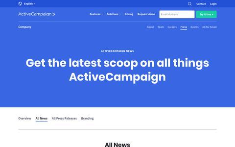 Screenshot of Press Page activecampaign.com - News   ActiveCampaign - captured June 18, 2019
