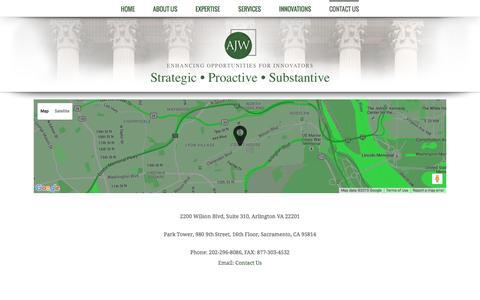 Screenshot of Contact Page ajw-inc.com - Contact Us | AJW-Inc - captured Dec. 22, 2015