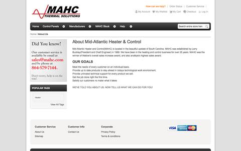 Screenshot of About Page mahc.com - About Us - captured Oct. 27, 2014