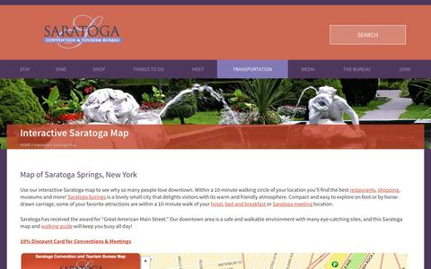 Screenshot of Maps & Directions Page discoversaratoga.org - Saratoga Map: Places to Go, Things to Do - captured Nov. 19, 2016