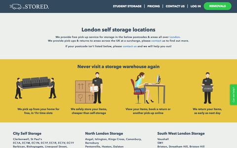 Screenshot of Locations Page bystored.com - Storage London Pick Up Locations | bySTORED. - captured June 3, 2017