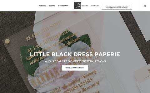 Screenshot of Home Page littleblackdresspaperie.com - Wedding Invitations and Stationery | Little Black Dress Paperie - captured July 21, 2018