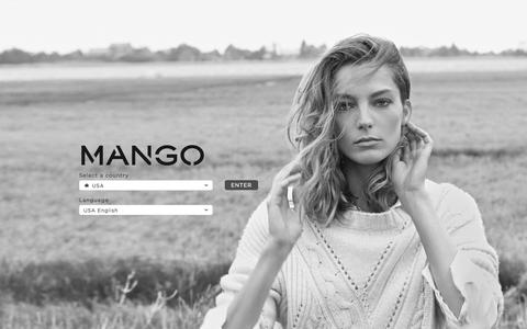 Screenshot of Home Page mango.com - MANGO Fashion for the young, urban woman - captured Sept. 18, 2014
