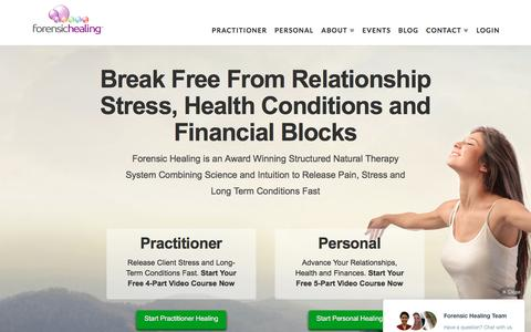 Screenshot of Home Page forensichealing.com - Structured Natural Therapy System | Forensic Healing - captured Aug. 4, 2016