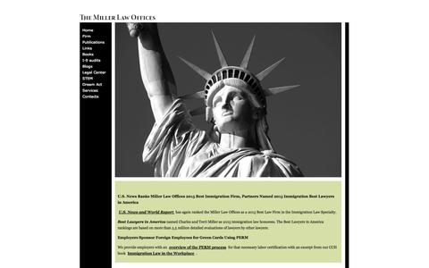 Screenshot of Home Page millerlawoffices.com - Miller Law Offices - captured Oct. 6, 2014