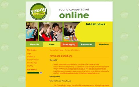 Screenshot of Terms Page youngco-operatives.coop - Terms and Conditions  / Home - Young Co-operatives - captured June 5, 2016
