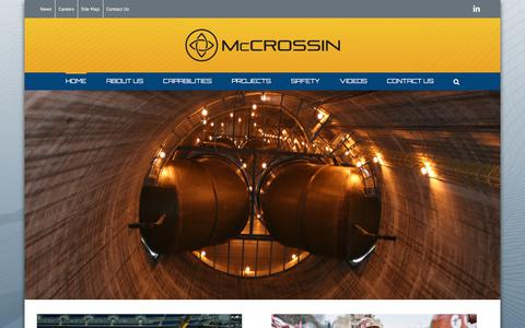 Screenshot of Home Page mccrossin.com - Home - McCrossin Corporate Site - captured Oct. 17, 2017