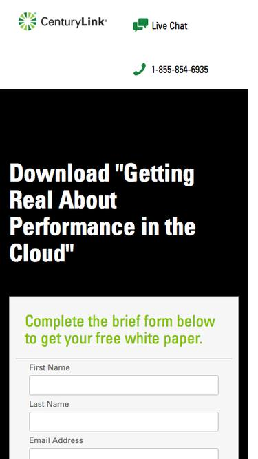 CenturyLink Cloud Performance