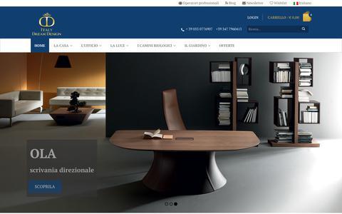 Screenshot of Home Page italydreamdesign.com - Design su misura 100% made in Italy - captured Oct. 15, 2017