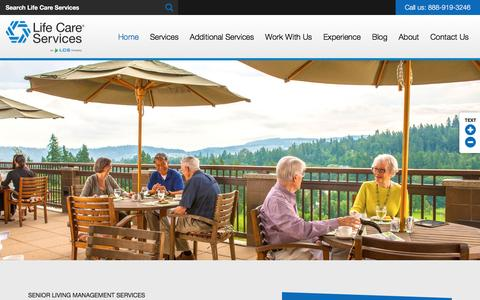 Screenshot of Home Page senior-living-management.com - Life Care Services | Senior Living Management Services - captured April 30, 2017