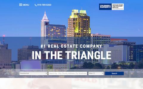 Screenshot of Home Page hpw.com - Raleigh Real Estate Resources from Your Trusted Real Estate Advisor - Coldwell Banker Howard Perry and Walston - captured Oct. 26, 2015