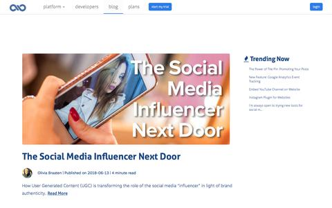 Screenshot of Blog twinesocial.com - Social Media News and Marketing Insights | TwineSocial - captured June 18, 2018