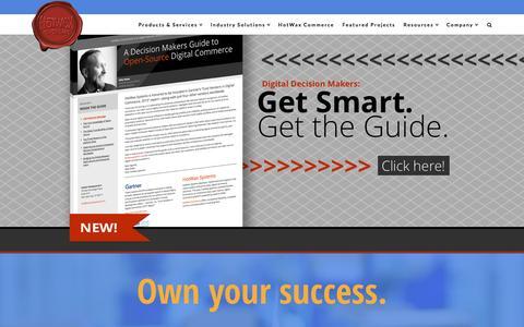 Screenshot of Home Page hotwaxsystems.com - HotWax Commerce - A Digital Commerce Platform - HotWax Systems - captured Dec. 13, 2015