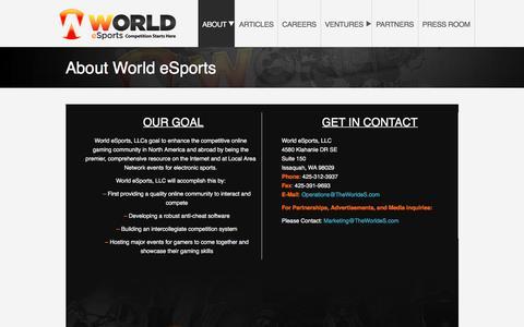 ABOUT – World eSports, LLC