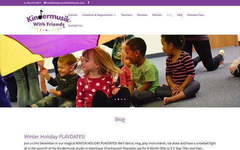 Screenshot of Blog kindermusikwithfriends.com - Blog - Kindermusik With Friends - captured Nov. 27, 2016