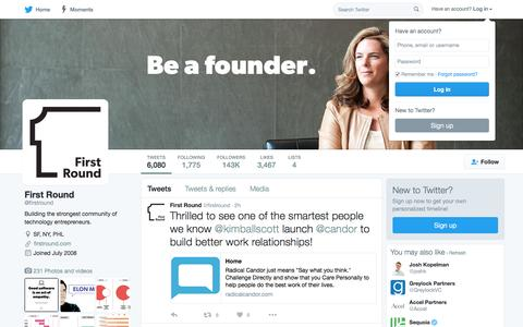 First Round (@firstround) | Twitter