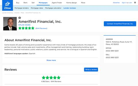 Amerifirst Financial, Inc. Ratings and Reviews | Zillow