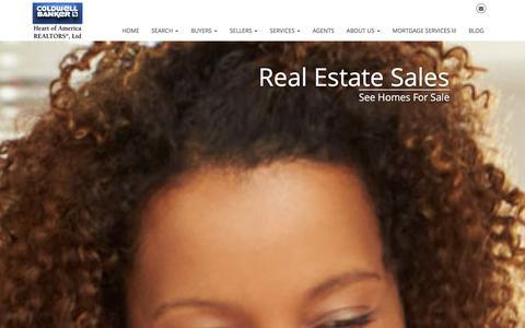 Screenshot of Home Page cbhoa.com - Bloomington Real Estate - Coldwell Banker Heart of America - captured Jan. 15, 2016