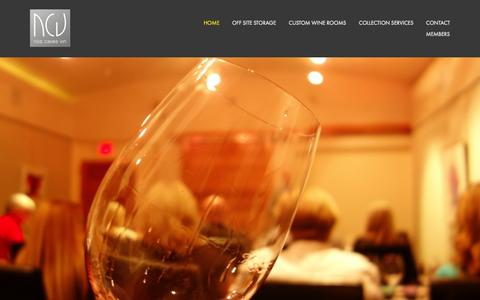 Screenshot of Home Page noscavesvin.com - Wine Storage Experts in Houston.Custom Wine Rooms & Offsite Storage Facilities in Houston - captured Aug. 15, 2015