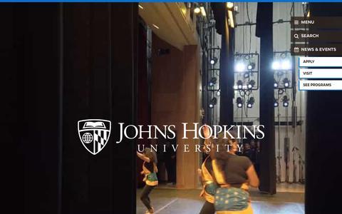 Screenshot of Home Page jhu.edu - Home | Johns Hopkins University - captured May 18, 2019