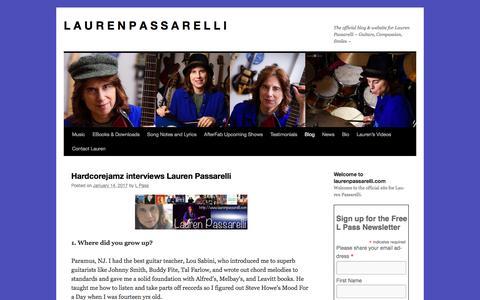 Screenshot of Blog laurenpassarelli.com - Blog page Lauren Passarelli Music | L A U R E N       P A S S A R E L L I - captured March 25, 2017