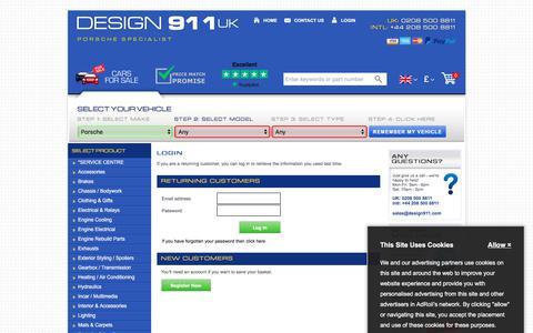 Screenshot of Login Page design911.com - Login | Design 911 - captured Aug. 6, 2018