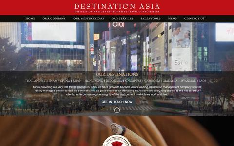 Screenshot of Home Page destination-asia.com captured July 22, 2019