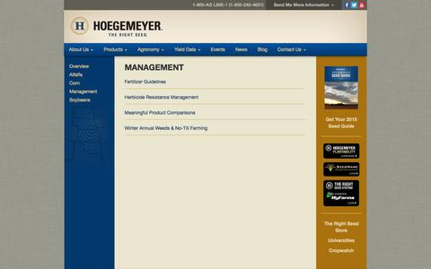 Screenshot of Team Page therightseed.com - Hoegemeyer Hybrids - captured Oct. 3, 2014