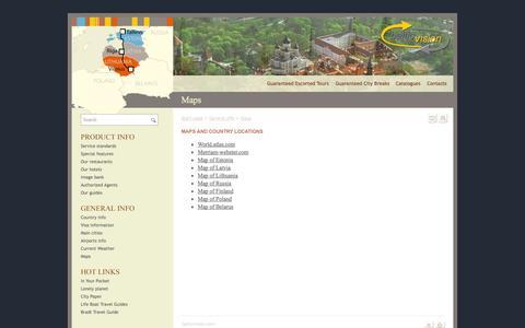 Screenshot of Maps & Directions Page balticvision.com - balticvision.com : unique travel experience ; first class service ; afforda - captured Sept. 30, 2014