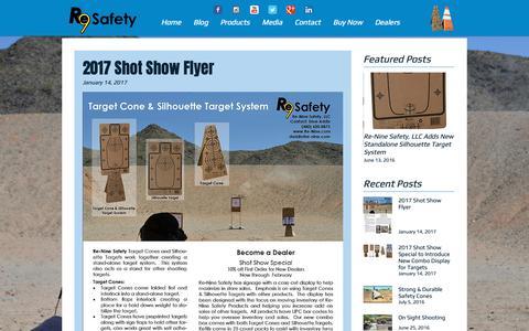Screenshot of Blog re-nine.com - Re-Nine Safety LLC Blog - captured Oct. 19, 2018