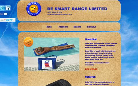 Screenshot of Products Page besmartrange.com - Be Smart Range Ltd - captured Oct. 5, 2014