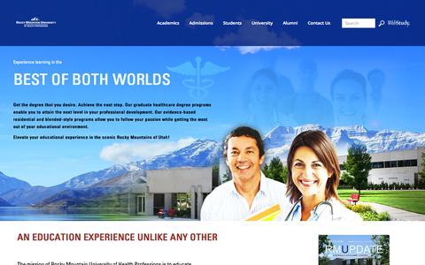 Screenshot of Home Page rmuohp.edu - RMUoHP Doctorate Healthcare Programs - captured Oct. 6, 2014