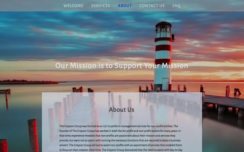 Screenshot of About Page greysongroup.com - About — The Greyson Group - captured Oct. 6, 2014