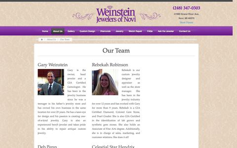 Screenshot of Team Page wjnovi.com - Weinstein Jewelers of Novi | Meet our team of Jewerly Proffesionals - captured Oct. 7, 2014