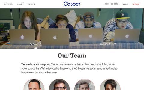 Screenshot of Team Page casper.com - The Team | Casper — The Mattress Reimagined - captured Oct. 28, 2014