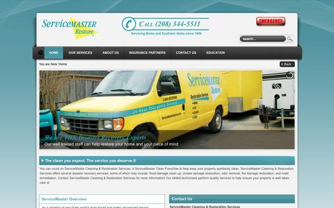 Screenshot of Home Page smcrs.com - ServiceMaster Restore Boise   Home - captured Oct. 7, 2014