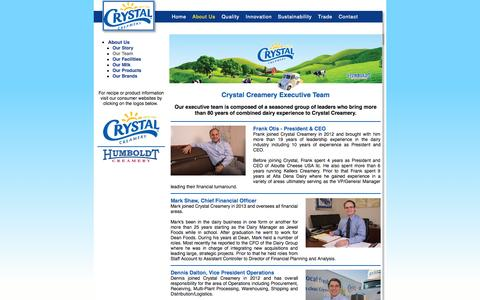 Screenshot of Team Page crystalcreamery.com - Foster Farms Dairy - Home of Wholesome Quality - captured Oct. 6, 2014