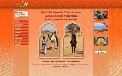 Screenshot of Home Page spirit-of-sahara.de - Spirit of Sahara - captured June 9, 2016
